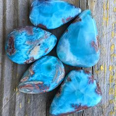 Caribbean gemstone Larimar also comes in other colors. Its beauty is to me even more interesting.