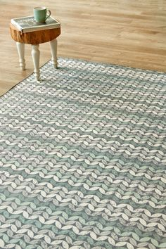 Scandi Floral Aqua: X metres. Please note that, as these printed rugs are mad. Small Wooden Stool, Wooden Stools, Mohair Blanket, Living Room Orange, Indoor Outdoor Living, Rug Making, Color Splash, Interior And Exterior, Family Room