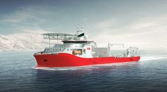 Kleven in Ulsteinvik celebrates a new contract with ABB for a 140 meter cable layer vessel. Design: Salt Ship Design, Fitjar, Norway
