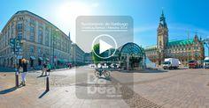 Durante mi viaje por Europa este año realice algunas fotografías 360, esta es en el centro de Hamburgo Alemania, específicamente en el barrio Altstadt, donde se encuentra situado El Ayuntamiento (en alemán, Hamburg Rathaus), donde el alcalde tiene su oficina y dirige desde allí la ciudad,  en esta plaza también se hacen festivales y ferias al aire libre, en la fotografía también se puede apreciar uno de los tantos puertos del  lago Binnenalster.  , Fotografía:   Dabeat Vargas - quimbaya 360