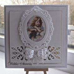 2/16/14.  Paperpasttimes: Sue Wilson striplet lattice heart and filigree 3d bow, Marianne creatables large frame.