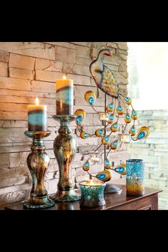 Pier 1... Just purchased these pillar holders and candles today! I'm obsessed with teal lately.