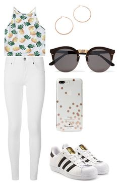 """""""Summer Vibes"""" by bethany-franco on Polyvore featuring Burberry, adidas Originals, Kate Spade, Illesteva, Jennifer Zeuner, simple and summerstyle"""