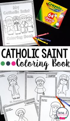 A Catholic Saints Coloring Book is an EASY way for kids to learn about the lives of the Saints.