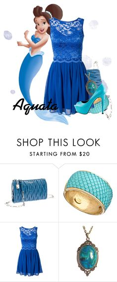 """""""Aquata"""" by karlynedc ❤ liked on Polyvore featuring Miu Miu, Ted Rossi, Elise Ryan and TaylorSays"""