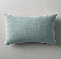 Belgian Linen Cross Weave Knife Edge Pillow Cover - Lumbar