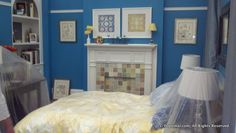 Elizabeth and Peter Burke's bedroom set on White Collar.  I am in LOVE with this fireplace idea.