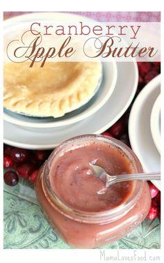 Slow Cooker Cranberry Apple Butter #EasyAsPotPie #Ad