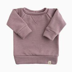 Crew Neck Sweatshirt in Dusk Popular Outfits, Work Wardrobe, Navy Stripes, Hoodies, Sweatshirts, French Terry, Dusk, Rib Knit, Crew Neck Sweatshirt