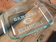 University of Georgia - GAMEDAY Kickasserole Dish!University of Oregon :) Either way. Laura Lee, Packers Football, Packers Baby, Football Season, Packers Season, Packers Gear, Bulldogs Football, Shilouette Cameo, Def Not