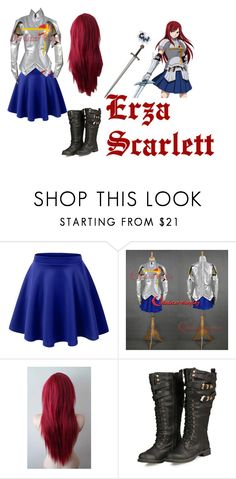 """""""Erza Scarlett"""" by magpie-geek7103 ❤ liked on Polyvore featuring LE3NO"""