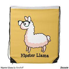 Hipster Llama Cinch Bags