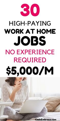 The best legit work from home jobs in 2021: high-paying online jobs to earn up to $100,000/year. These work from home ideas are more than side hustles or extra income ideas. Online jobs with no start-up fees hiring now.#bestworkfromhomejobs#legitworkfromhomejobs#onlinejobs#workathome#makemoneyonline Legitimate Online Jobs, Legit Online Jobs, Legitimate Work From Home, Legit Work From Home, Work From Home Jobs, Cash From Home, Make Money From Home, Make Money Blogging, Make Money Online