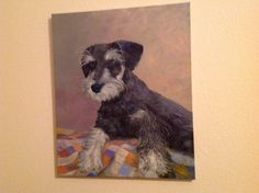 """Oil painting of my """"Baxter""""by Ann Arensmeyer"""