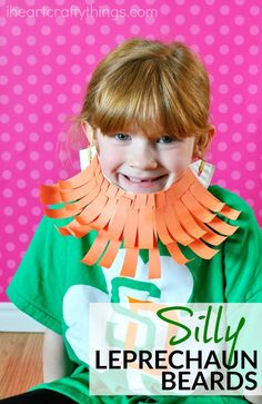 Sponsored by Elmer's. Make St. Patrick's Day fun this year with this silly paper plate leprechaun beard craft. Fun St. Patrick's Day craft for kids and leprechaun kids craft.