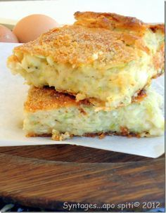 Zuchini Pie with feta cheese Greek Recipes, My Recipes, Snack Recipes, Cooking Recipes, Snacks, Cypriot Food, Quiche, Greek Sweets, Greek Cooking