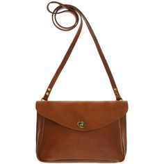 Mimi Berry Eric Shoulder Bag , Tan ($180) ❤ liked on Polyvore featuring bags, handbags, shoulder bags, purses, accessories, tan, handbags shoulder bags, leather crossbody handbags, leather shoulder bag and leather envelope clutch