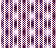 Blue_and_red_diamond_stripes. fabric by art_on_fabric on Spoonflower - custom fabric