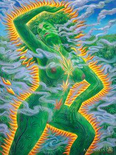 Dance of Cannabia - Alex Grey - www.alexgrey.com