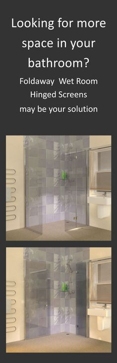 Space saving foldaway wet room shower screens are perfect for the smaller bathroom. If you are looking for increased accessibility ideas these glass screens could be the solution.