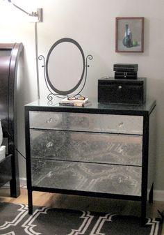cmo darle estilo glamoroso a una cmoda - Mirrored Dresser Cheap