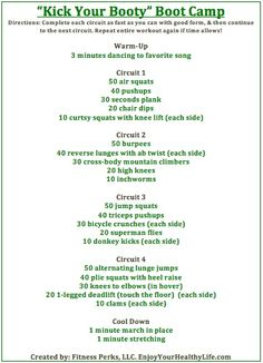 Kick Your Booty Boot Camp Workout