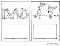 Printable coloring cards for Mom & Dad.  Great for Mother's Day/Father's Day!