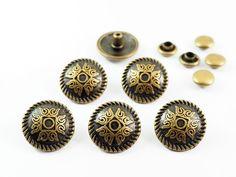 10 sets  12 mm Antique Brass Retro Cross Fancy by punnysupply