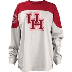 Three Squared Juniors' University of Houston Cannondale Long Sleeve T-shirt (Red, Size Large) - NCAA Licensed Product, NCAA Women's at Academy Sports