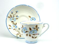 Something New Something Old - Royal Grafton Tea Cup and Saucer, Pattern 8613 Blue Flowers, £9.50 (http://www.somethingnewsomethingold.co.uk/royal-grafton-tea-cup-and-saucer-pattern-8613-blue-flowers/)