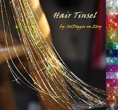 Hair Tinsel 10 Long Strands by SolDoggie on Etsy, $5.00