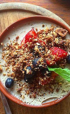 Roadhouse Acai Bowl, Breakfast, Ethnic Recipes, Food, Hoods, Meals