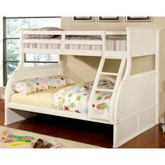 Furniture of America Fairbanks Twin Over Full Bunk Bed | from hayneedle.com