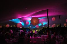 The Stretch Tent Company intelligent lighting 3