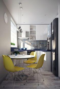GLOBAL KITCHEN DESIGN WORLDWIDE | Modern Kitchen in small flat