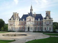 The Château de Baronville is located between Paris and Chartres in France near the town of Béville-le-Comte, Eure-et-Loir. French Architecture, Historical Architecture, Beautiful Architecture, Beautiful Castles, Beautiful Buildings, Beautiful Places, Photo Chateau, Palaces, French Castles