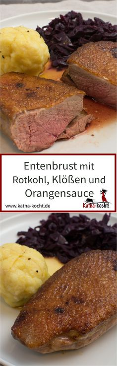 Duck breast in orange sauce with red cabbage and dumplings – Katha cooks! Crispy Orange Chicken Recipes, Paleo Orange Chicken, Orange Chicken Sauce, Chicken Chunks, Sauce For Chicken, Chicken Legs, Crispy Chicken, Easy Chinese Recipes, Indian Food Recipes