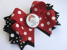 Daddy's Little Fire Fighter Hair Bow by lillybellabows on Etsy, $11.50