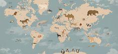 World Map Wallpaper for Jacobo's bedroom