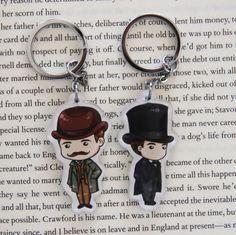 Sherlock and Watson Acrylic Figure Keychain Set