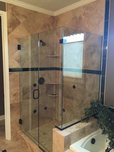 Master Bath Remodel With Custom Tile Glass Shower Soaking Bath