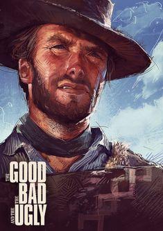 Clint Eastwood Poster, Actor Clint Eastwood, Dark Souls Art, Film World, Tv Westerns, Cowboy Art, Cinema Posters, Movie Poster Art, Western Movies