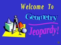 This jeopardy game is ideal for SmartBoard use and serves as a great review of basic geometric concepts.  FREEBIE! great test review!