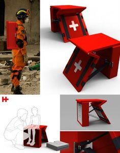 Disaster Relief for the Digital Age: 13 Innovative Ideas Disaster Designs, Future Gadgets, Medical Design, Cool Inventions, Disaster Preparedness, Cool Tech, First Aid, Camping, Industrial Design