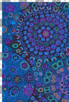 KAFFE FASSETT Fabric  Half Yard  Millefiore by mountainofthedragon