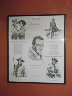 John Wayne  The Duke In Memory Of a Legend by Dan Brewer 1985 Signed 29  x 24