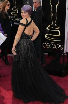 Kelly Osbourne in Tony Ward at the 2013 Oscars.