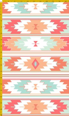 Tribal Coral Crib Sheet, Baby or Toddler Fitted Crib Sheet, Southwest Coral and Aqua Crib Sheet on Etsy, $60.00