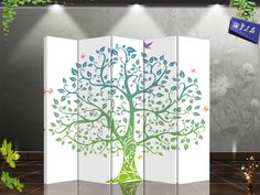 Chinese classical style folding screen partition entranceway modern off screen fabric screen peony $153.08   Skilrúm!