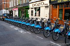 Boris's Bikes by Charmian S Berry - Thes bikes were installed by the Mayor of London -Boris- for everyone to use and make the city a greener place by biking instead of taking a car. They are free to use and you just return them to a ...